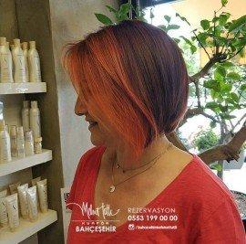 kızıl saç boyası uygulama