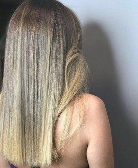 uzun düz saç boyası