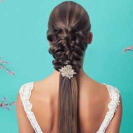 orgü gelin saçı